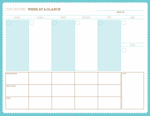 Free Printable Daily Schedule Sheets | quotes.lol-rofl.com