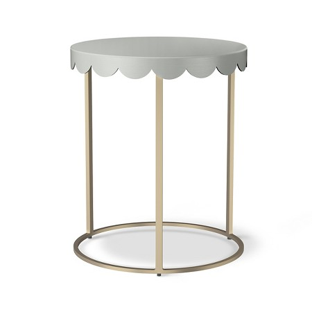 target scalloped table